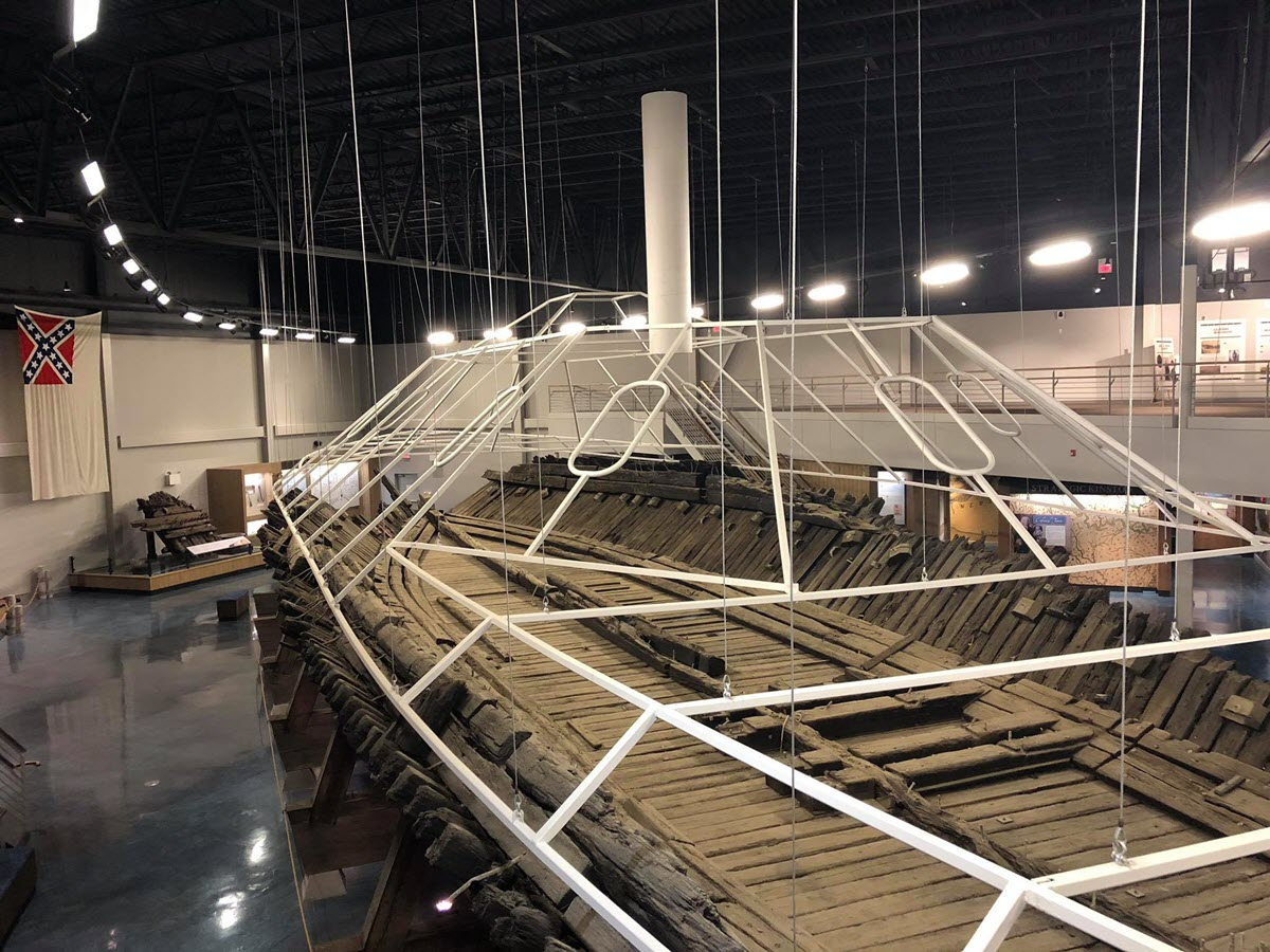 Recovered Confederate ironclad CSS Neuse