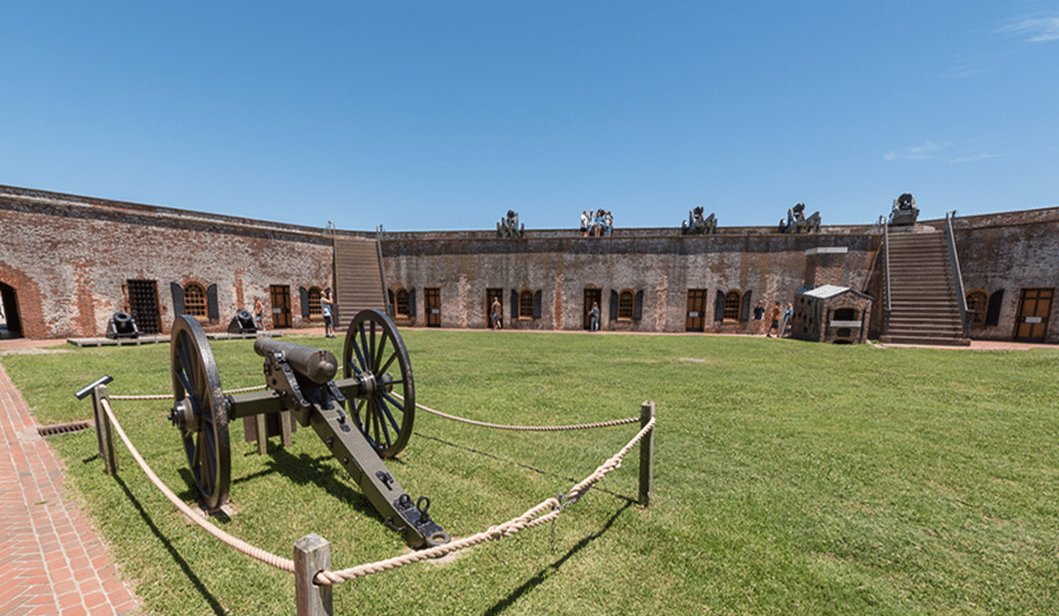Courtyard view of Fort Macon