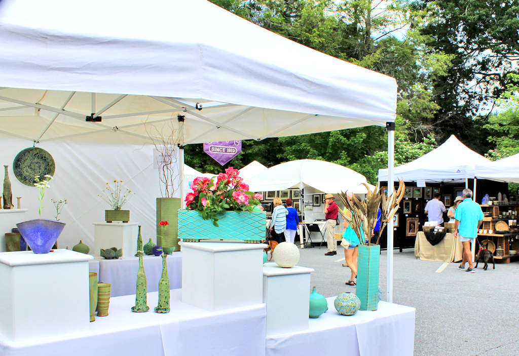 A booth at Blowing Rock Art in the Park