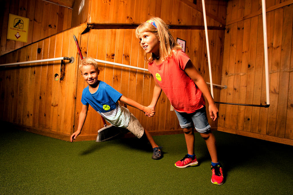 Children defy gravity at Mystery Hill in Blowing Rock